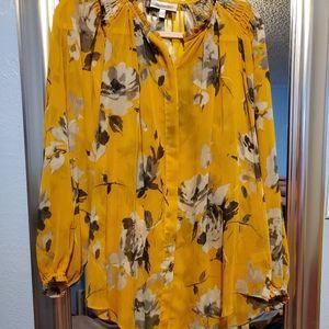 Jennifer Lopez NWOT Goldenrod color blouse